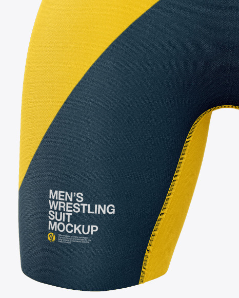 Men's Wrestling Suit Mockup