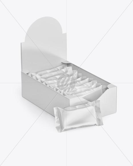 Display Box with Snack Bars Mockup