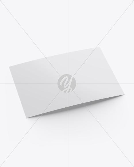 Matte A5 Postcard Mockup