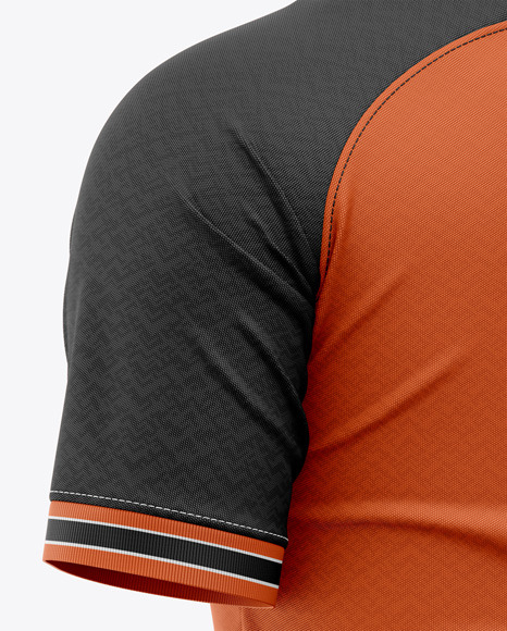 Men's Soccer Raglan Jersey Mockup - Back Half-Side View