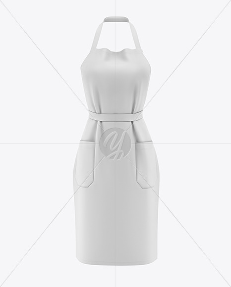 Download Apron With Leather Parts Mockup Front View Yellow Images