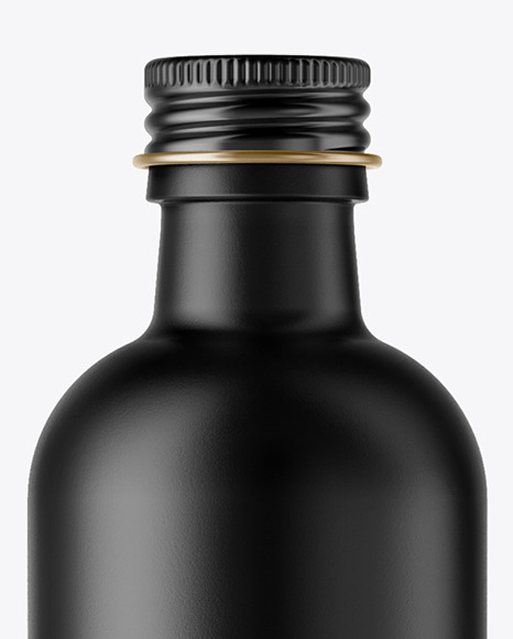 Ceramic Bottle with Metal Cap Mockup