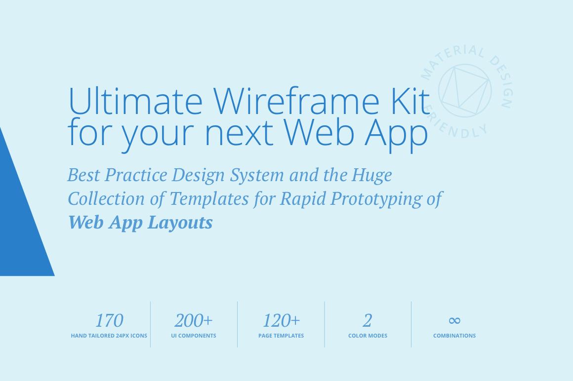 Adminian 4 Wireframe Kit