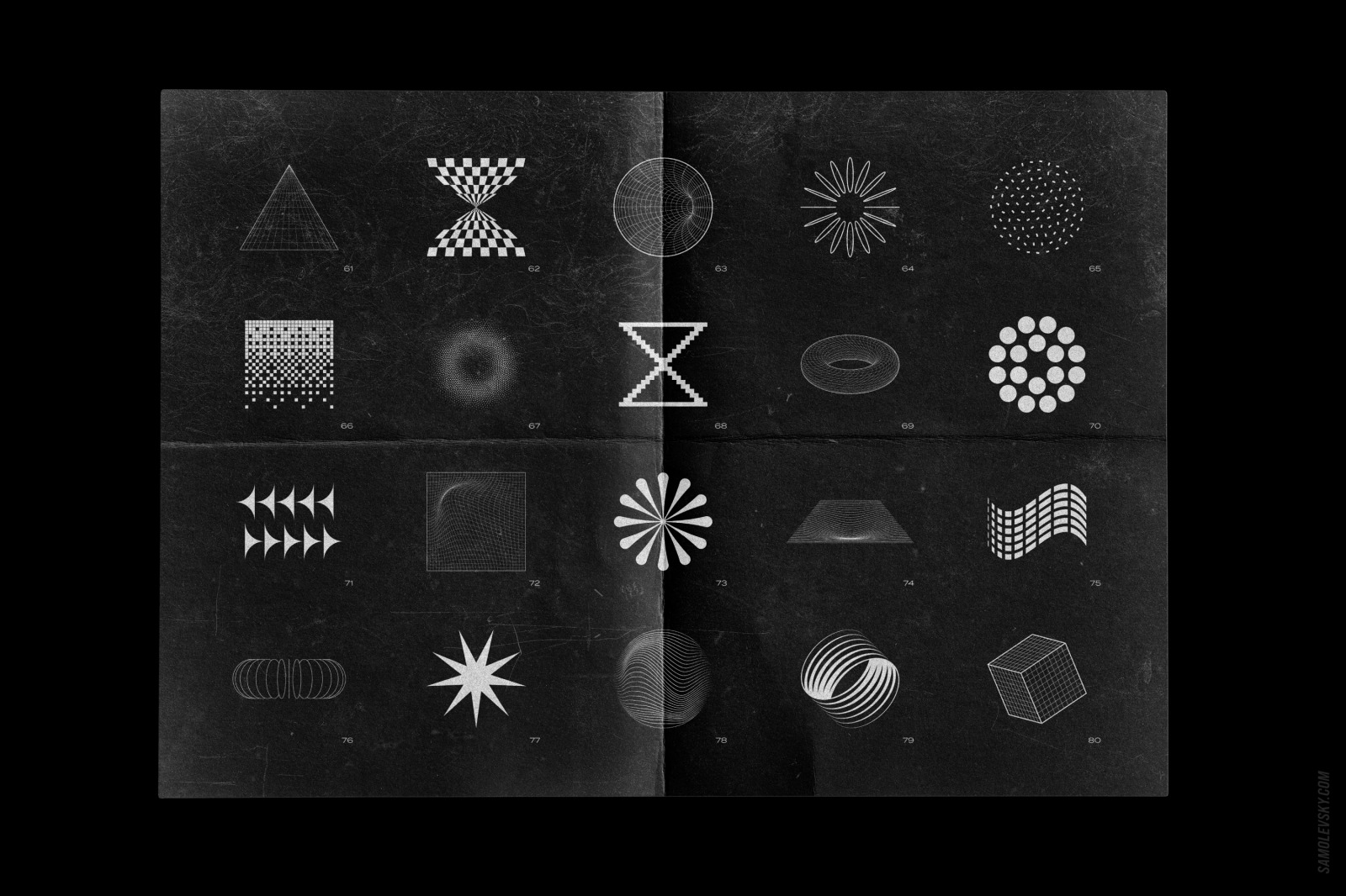 Abstract shapes collection – 100 design elements