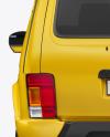 Off-Road SUV Mockup - Back View