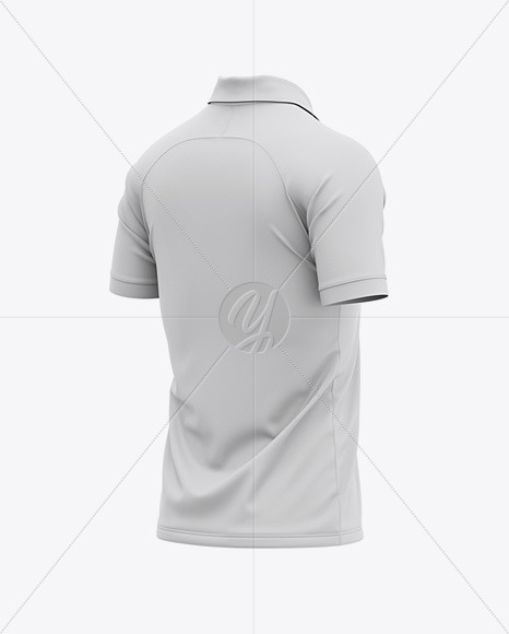 Men's Soccer Jersey Mockup - Back Half Side View Of Soccer Polo T-Shirt