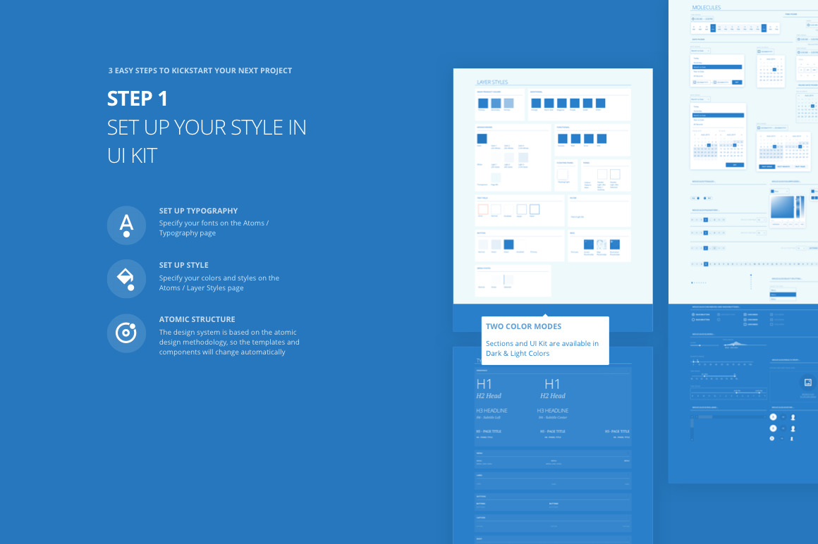 Tapky 1 Wireframe Kit
