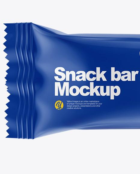 Glossy Snack Bar Mockup