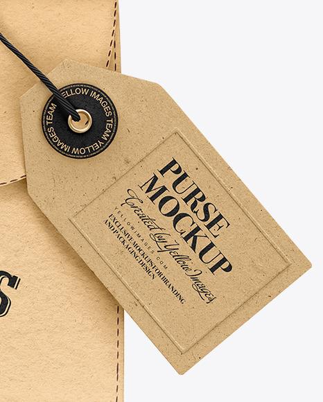Kraft Purse w/ Label Mockup