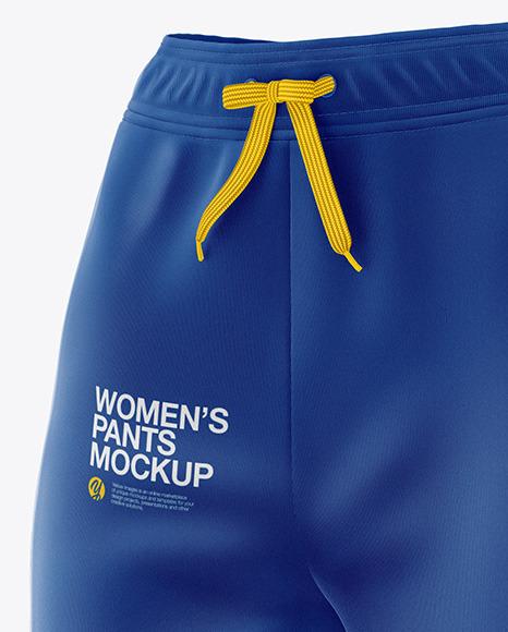 Women's Pants Mockup - Front Half Side View