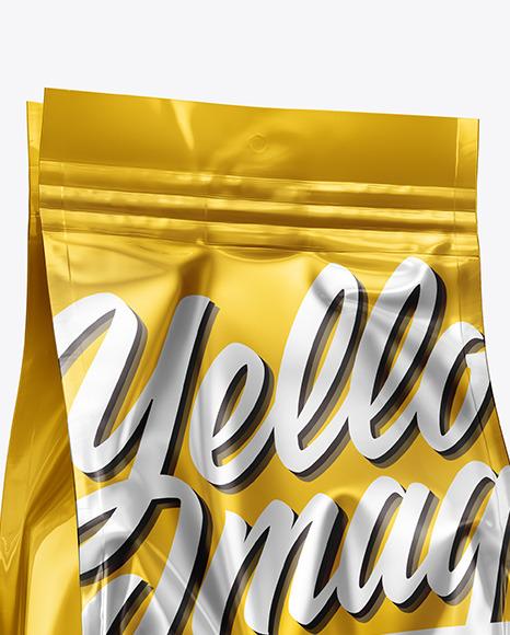 Matte Metallic Food Bag Mockup