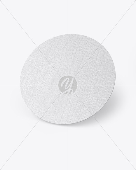 Wood Beverage Coaster Mockup