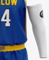 Men's Basketball Kit Mockup - Front View Of Basketball Jersey And Shorts