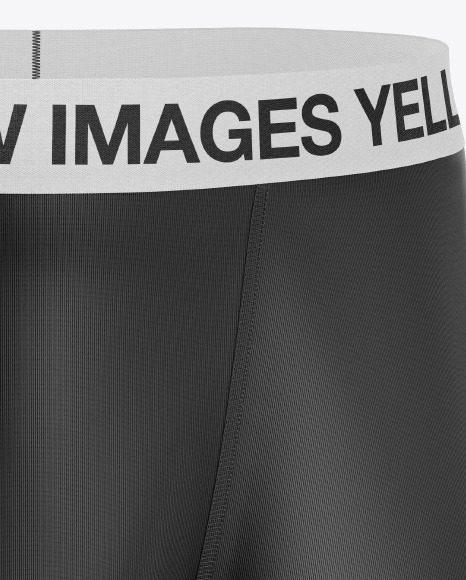 Download Mens Boxer Briefs Mockup Front View Yellow Images