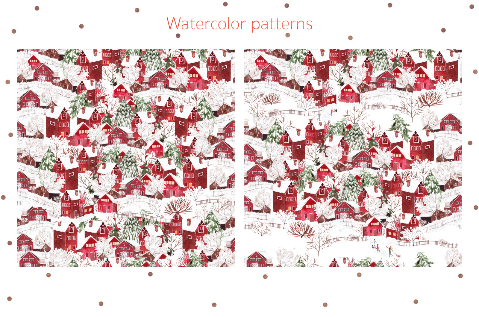 Watercolor Merry Christmas