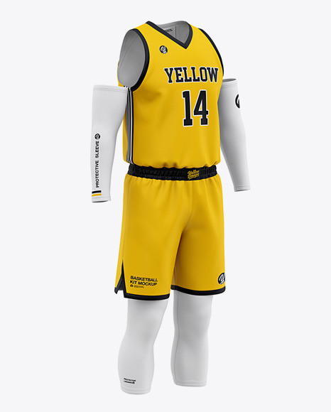 Men's Basketball Kit Mockup - Basketball Jersey And Shorts