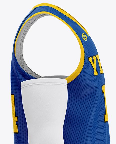 Men's Basketball Kit Mockup - Side View Of Basketball Jersey And Shorts
