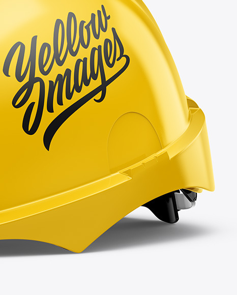 Download Glossy Hard Hat Mockup Front View Yellow Images