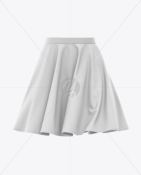 Skater Skirt Mockup - Front View