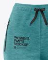 Women's Melange Pants Mockup - Front View