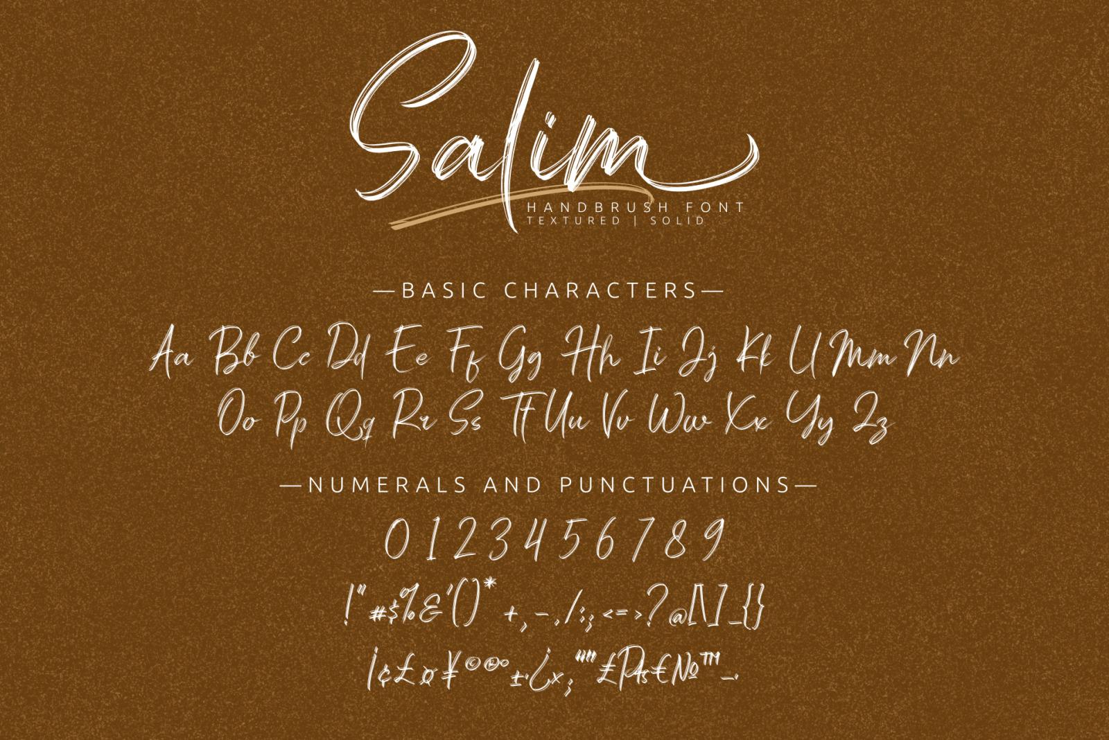 Salim - Handwritten Font