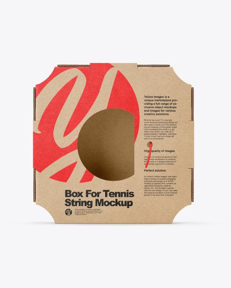 Box For Tennis String Mockup