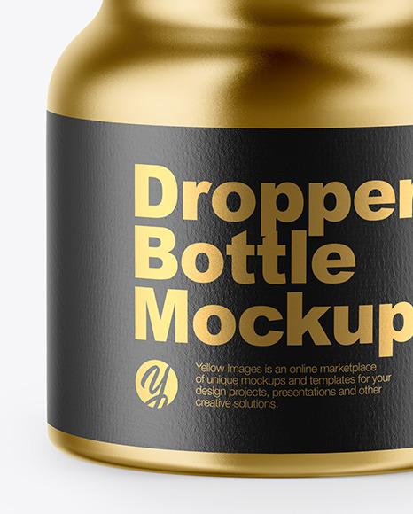 5ml Metallized Dropper Bottle Mockup