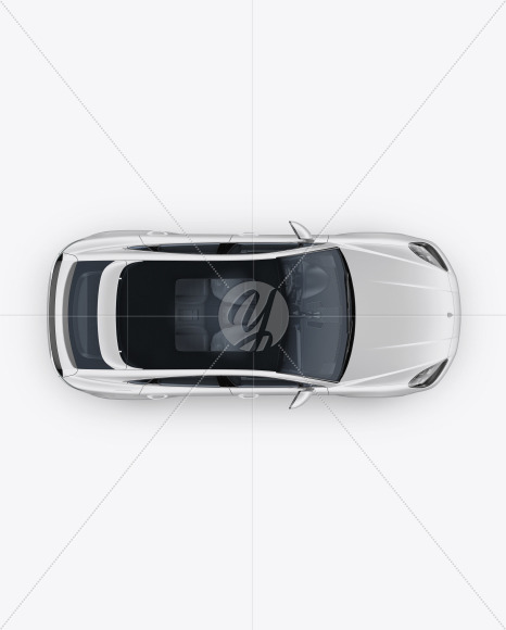 Coupe Crossover SUV Mockup - Top View