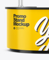 Glossy Promo Stand Mockup