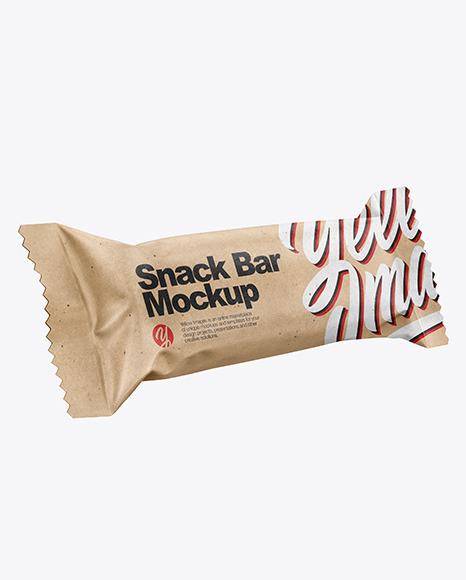 Two Kraft Paper Snack Bars Mockup