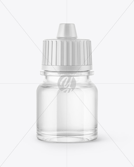 5ml Clear Glass Dropper Bottle Mockup