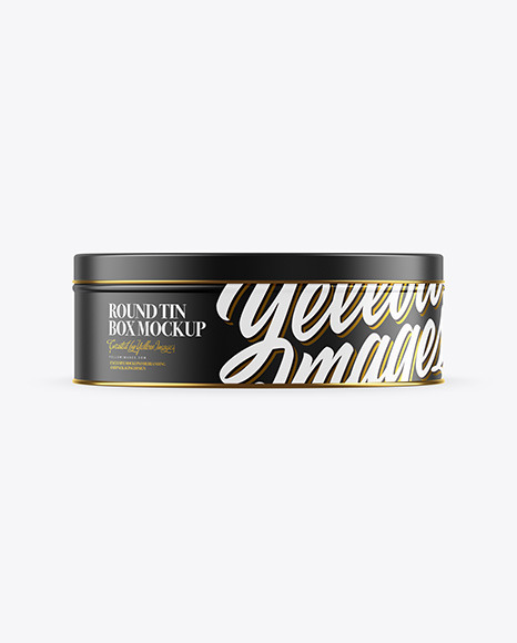 Download Matte Round Tin Box Mockup In Can Mockups On Yellow Images Object Mockups Yellowimages Mockups