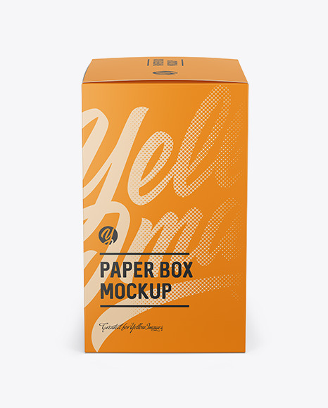 Download Paper Box Mockup Side View In Box Mockups On Yellow Images Object Mockups PSD Mockup Templates