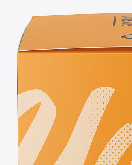 Paper Box Mockup - Side View