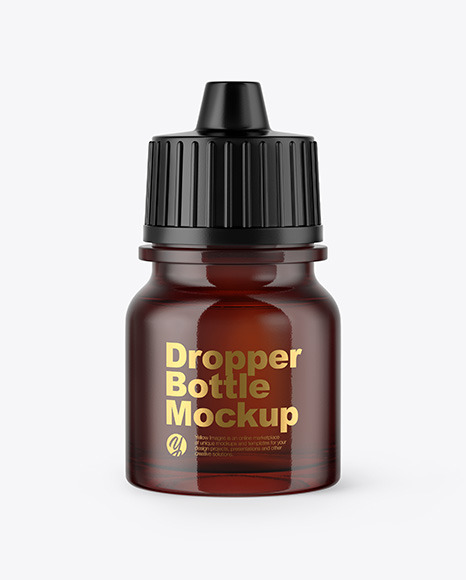 5ml Amber Glass Dropper Bottle Mockup