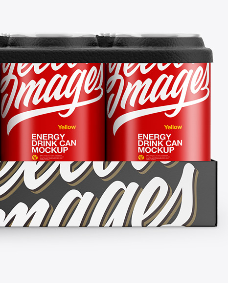 Pack with 24 Matte Cans Mockup