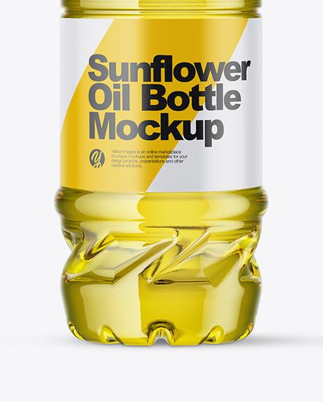 1L Sunflower Oil Bottle Mockup