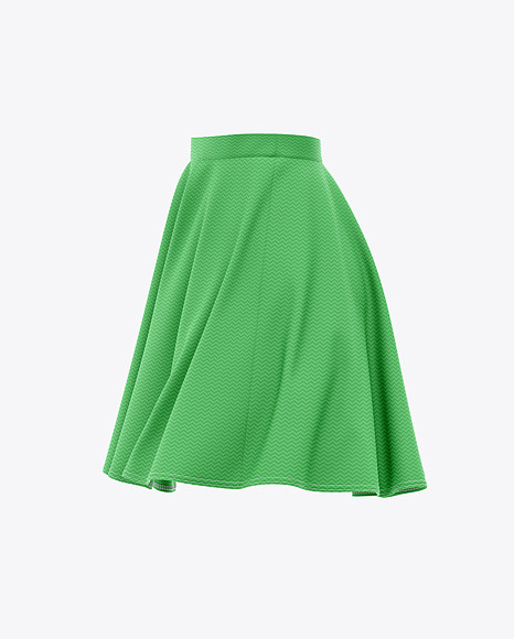 Skater Skirt Mockup - Side View