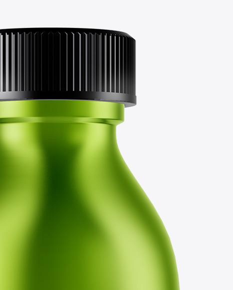 Metallic Oil Bottle Mockup