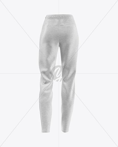 Women's Melange Pants Mockup - Back View