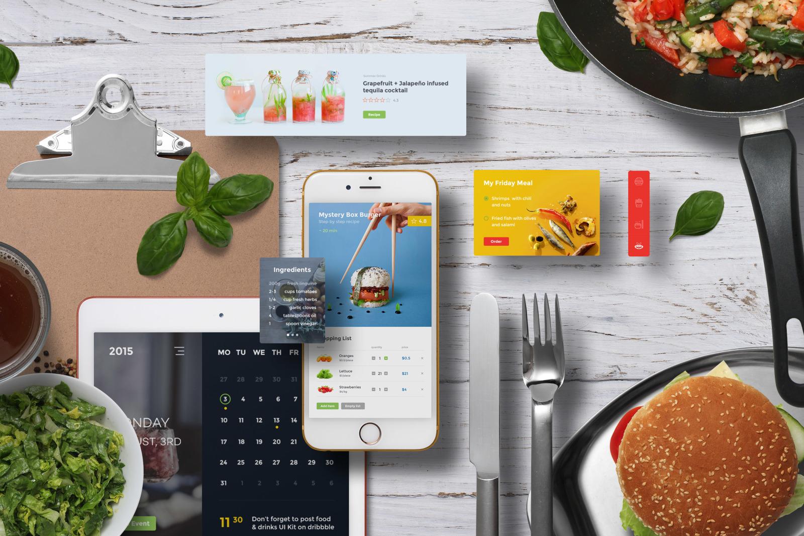 App / UI Kit Mockups