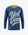 Men's Long Sleeve T-Shirt Mockup - Front View
