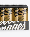 Pack with 24 Matte Metallic Cans Mockup