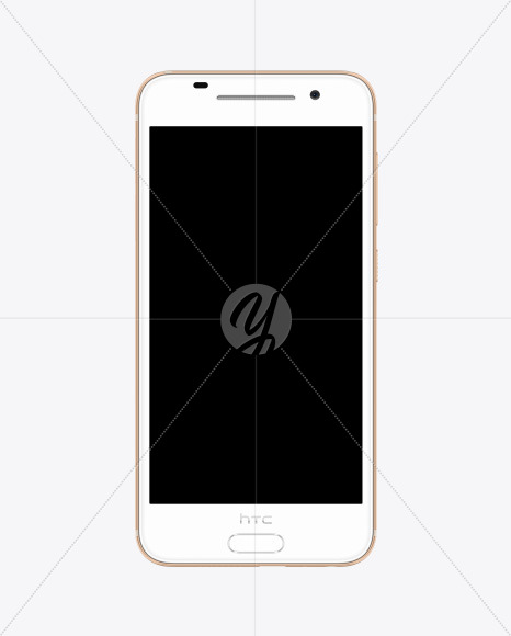 Rose Gold HTC A9 Phone Mockup