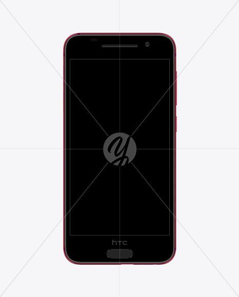 Deep Garnet HTC A9 Phone Mockup