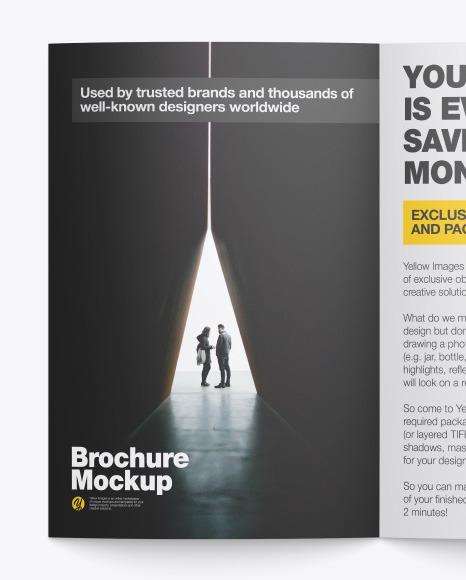 Matte Brochure Mockup