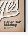 Opened Kraft Box Mockup