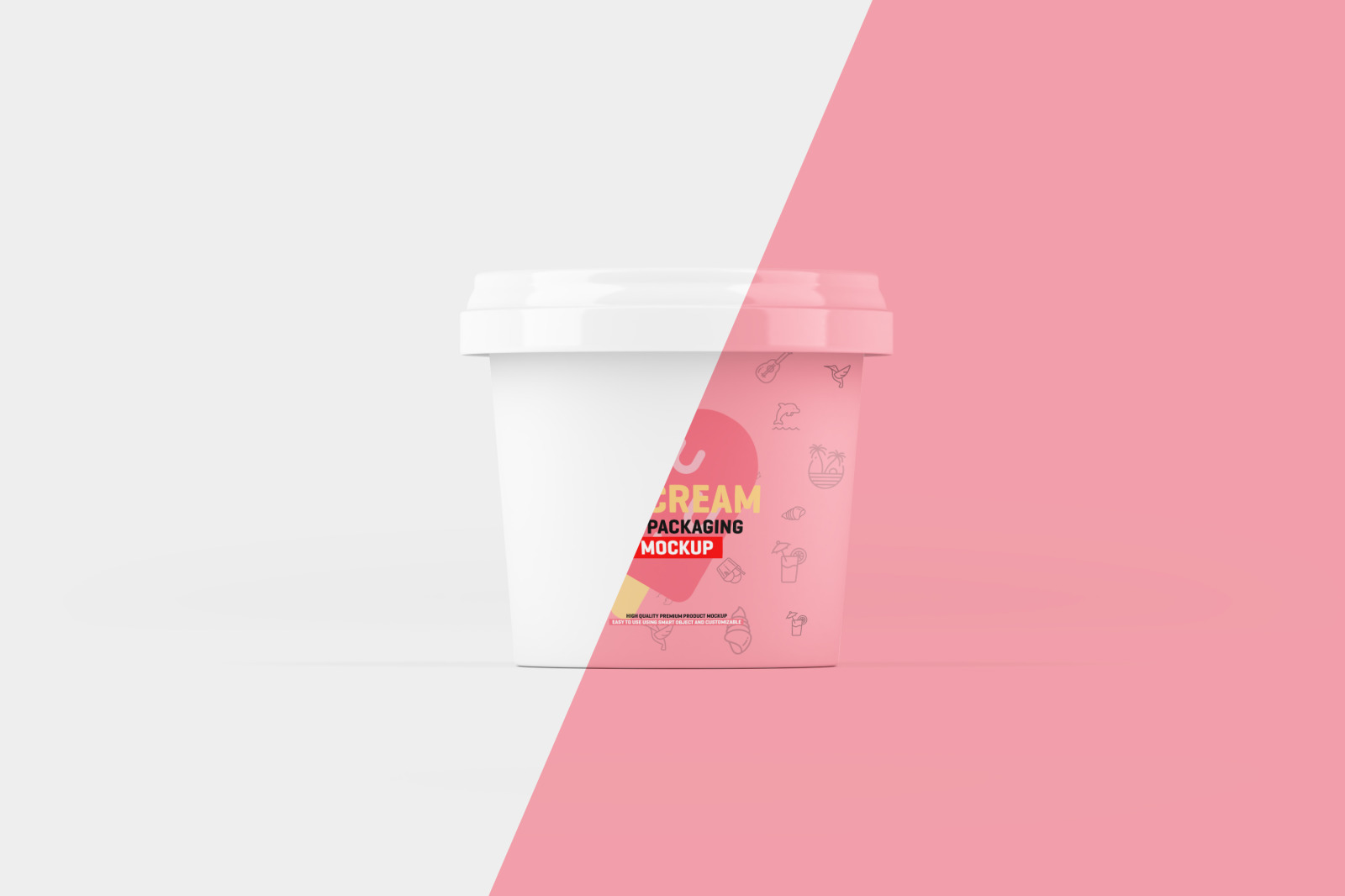 Ice Cream Jar Packaging Mockup