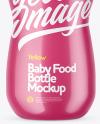 Glossy Baby Food Bottle Mockup