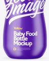 Matte Baby Food Bottle Mockup